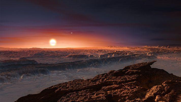 Proxima Centauri b er í 4,2 ljósára fjarlægð frá Jörðinni.