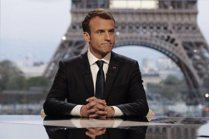 Macron segist hafa haft veruleg áhrif á utanríkisstefnu Bandaríkjanna.