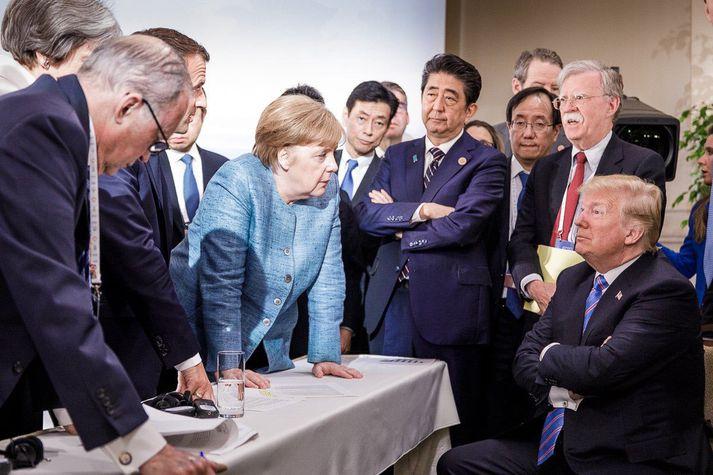 Trump og Merkel greinir á um mörg málefni.