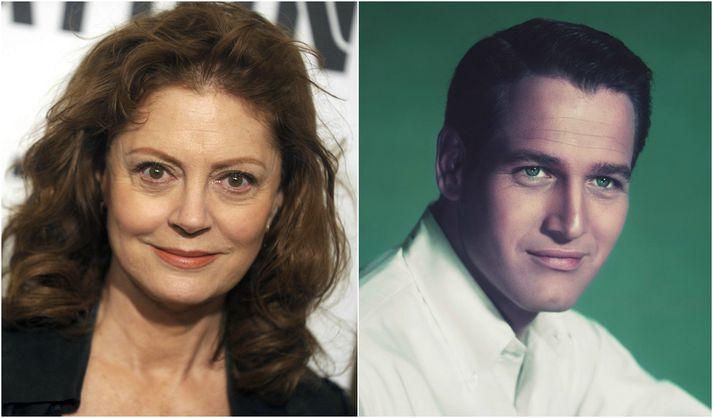 Leikararnir Susan Sarandon og Paul Newman.