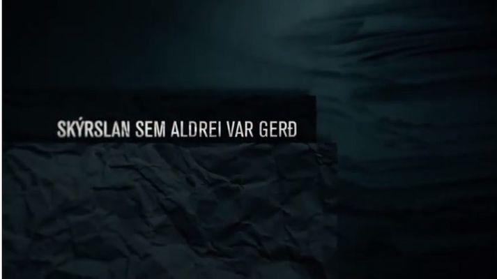 Þátturinn ber heitið Skýrslan sem aldrei var gerð.
