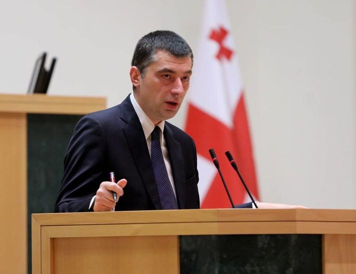 Hinn 45 ára Giorgi Gakharia hefur gegnt embættinu frá í september 2019.