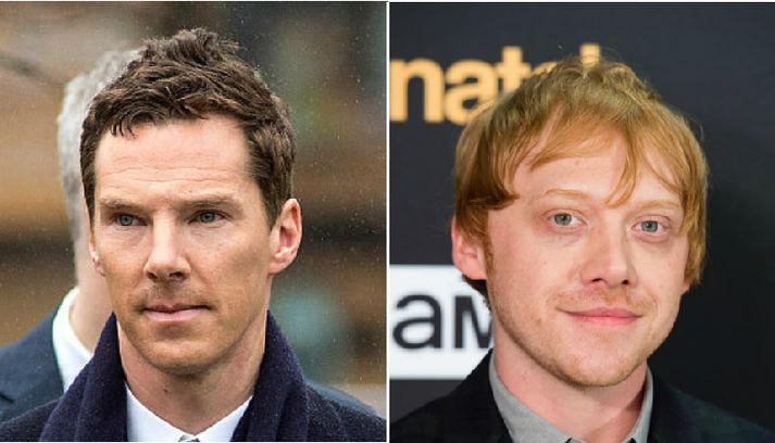 Benedict Cumberbatch og Rupert Grint njóta feikilegra vinsælda um allan heim - þ.m.t. á Íslandi.