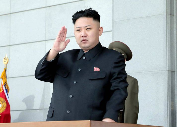 Kim Jong-un lét sprengja 250 kílótonna vetnissprengju. ?Nordicphotos/AFP
