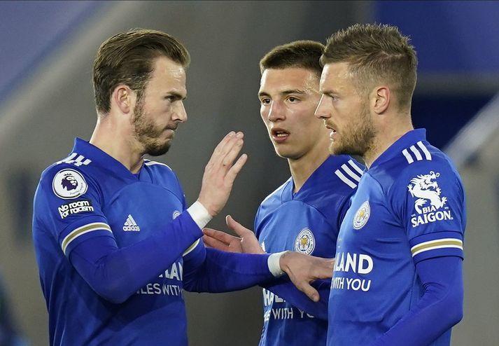 Leicester City vann öruggan 3-0 sigur á WBA í kvöld.