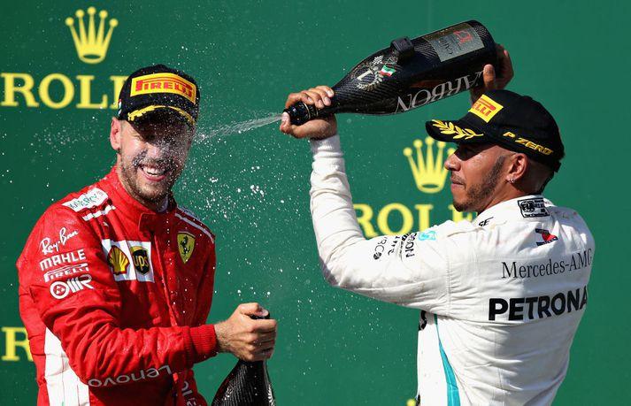 Hamilton og Vettel hafa barist hart allt árið