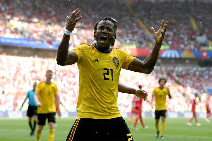 Batshuayi vann brons með Belgum á HM í Rússlandi