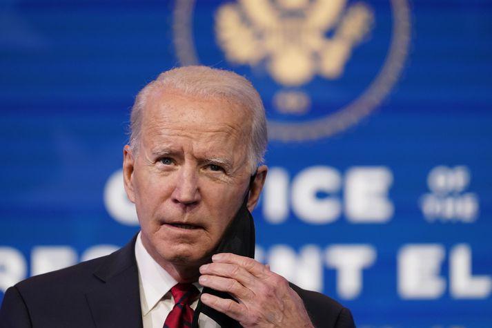 Joe Biden í gær.
