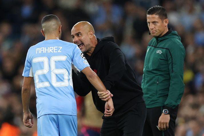 Pep Guardiola og lærisveinar hans í Manchester City mæta franska stórliðinu Paris Saint-Germain í Meistaradeild Evrópu í kvöld.