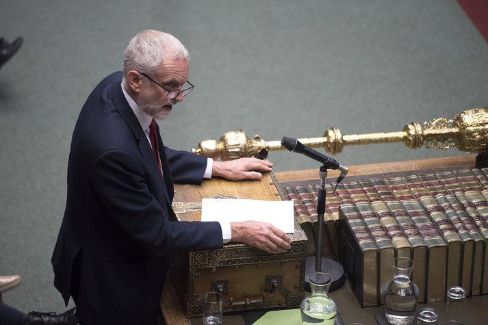 Corbyn hefur undanfarið krafist nýrra kosninga til að greiða úr Brexit-flækjunni. Óvíst er að flokkur hans kæmi vel út úr þeim ef marka má stöðuna nú.