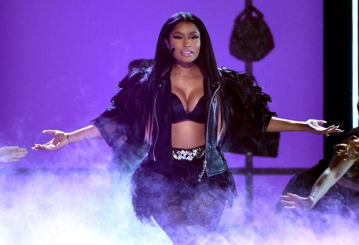 Nicki Minaj á sviðinu.