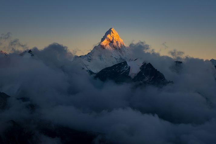 Everest er hæsti tindur heims og hafa níu Íslendingar komist á toppinn.