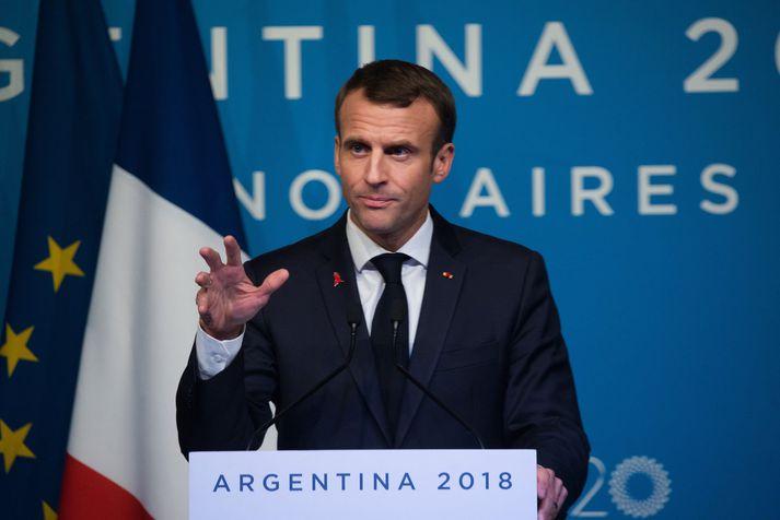 Emmanuel Macron, forseti Frakklands
