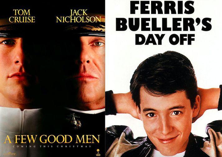 A Few Good Men og Ferris Bueller´s Day Off eru meðal þeirra mynda sem hægt er að streyma.