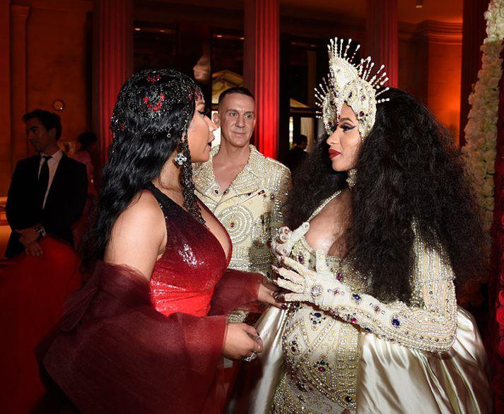 Nicki Minaj og Cardi B eru stór nöfn í rappsenunni um þessar mundir.