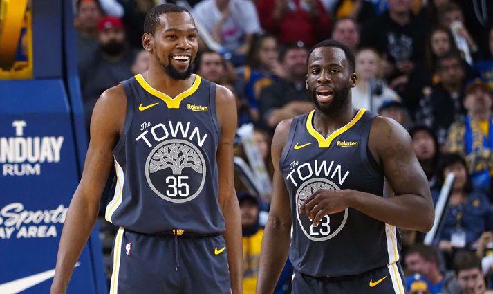 Kevin Durant og Draymond Green urðu tvívegis meistarar saman með Golden State Warriors.