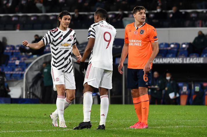 Manchester United verður án Anthony Martial og Edinson Cavani verða ekki með liðinu í kvöld.