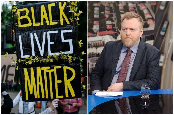 """Sigmundur Davíð segir """"nýju menningarbyltinguna"""" fela í sér endurvakningu kynþáttahyggju, og vísar þar í réttindabaráttu svartra í Bandaríkjunum undir formerkjum slagorðsins """"Black Lives Matter."""""""