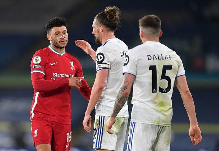 Leeds og Liverpool skildu jöfn í kvöld.