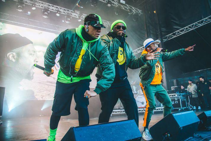 Tónlistargagnrýnandi Vísis var endanlega skírður til rappsins þegar Black Eyed Peas tóku til við að trylla lýðinn. Boom, boom, boom.