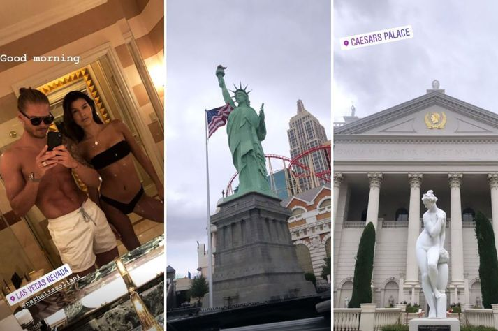 Eitt fallegasta par heims nýtur lífsins í Las Vegas.