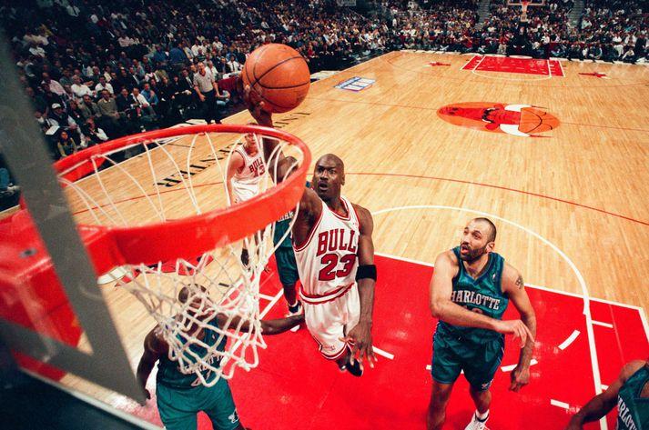 Michael Jordan var miðpunktur þáttaraðarinnar The Last Dance.