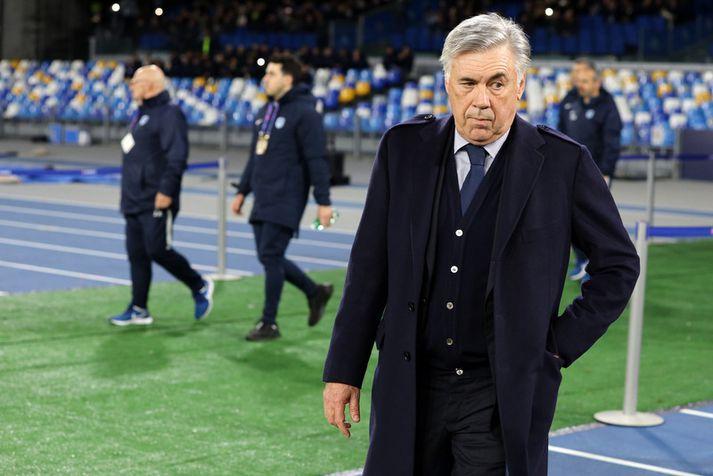 Carlo Ancelotti í síðasta leiknum sínum með Napoli liðið.