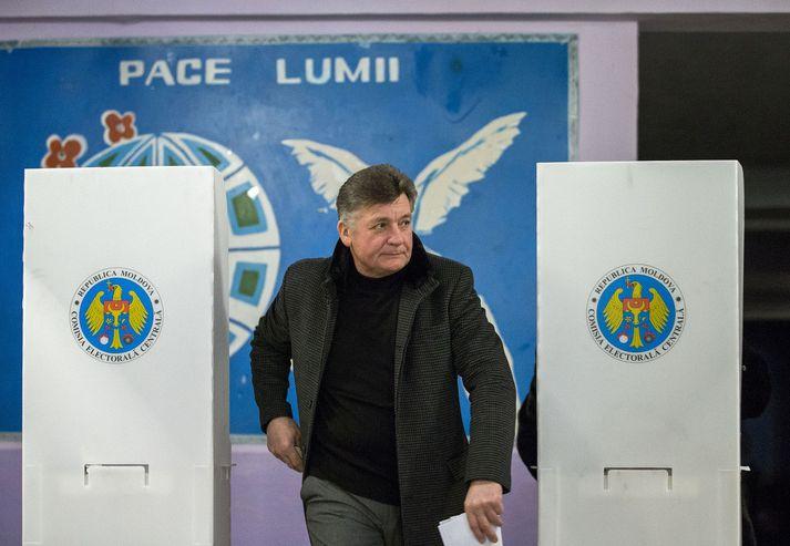 Kosningarnar í Moldóvu fóru fram á sunnudaginn.