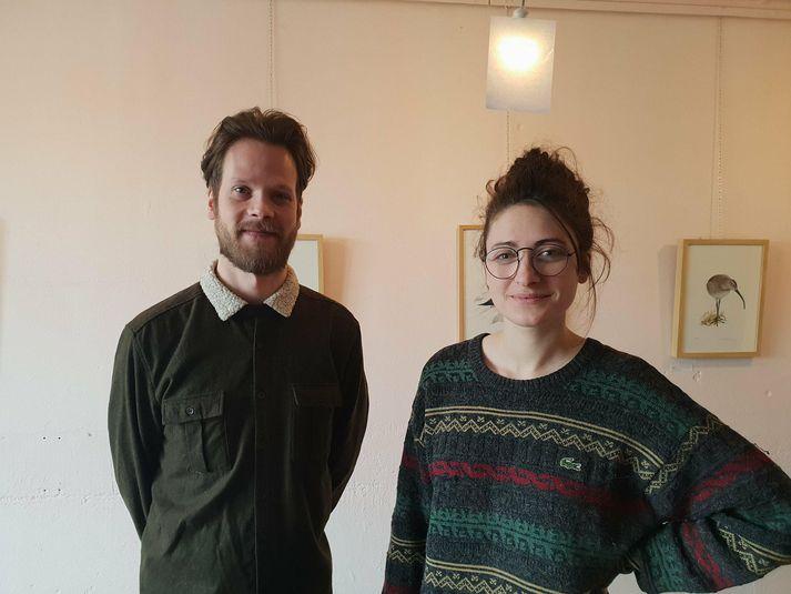 Aron Ingi Guðmundsson og Julie Gasiglia.