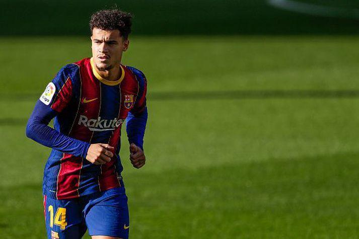 Coutinho í leik Barcelona gegn Osasuna um helgina.