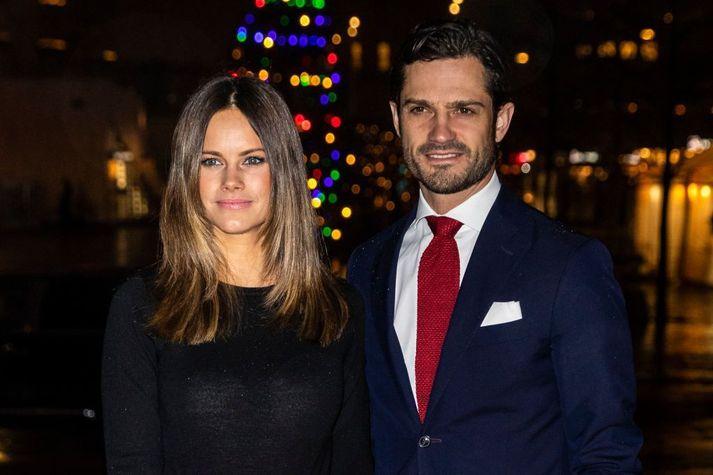 Sofia prinsessa og Karl Filippus gengu í hjónaband árið 2015.