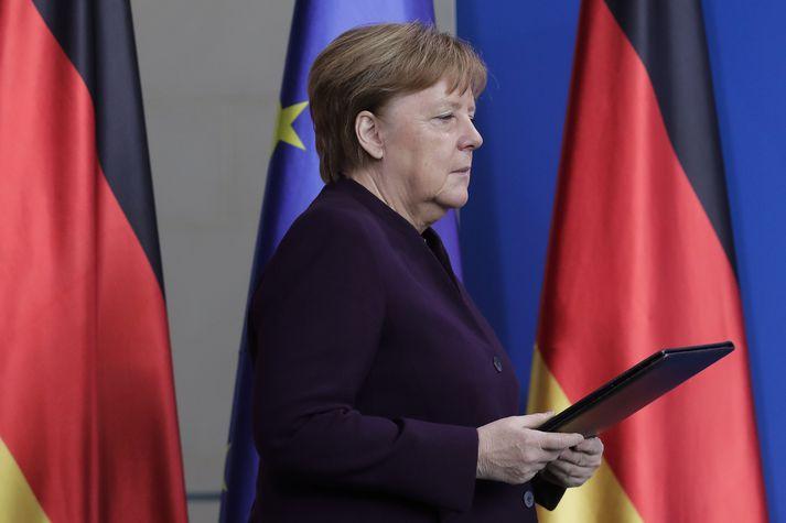 Angela Merkel kanslari sagði margt benda til þess að um hryðjuverk hafi verið að ræða.