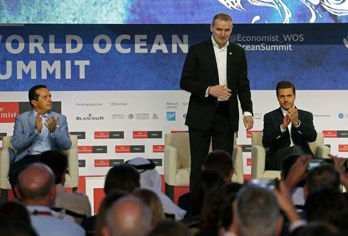 Guðni Th. Jóhannesson var þáttakandi í World Ocean Summit í Mexíkó um helgina.