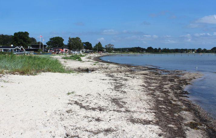 Bjert Strand nærri Kolding. Myndin er úr safni.