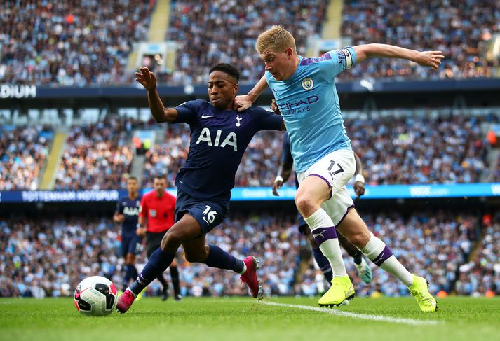 Úr leik Man. City og Tottenham um liðna helgi.