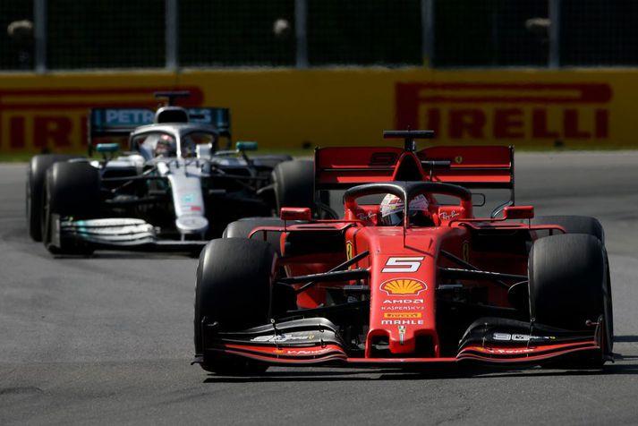 Sebastian Vettel leiddi Kanada kappaksturinn í 42 hringi