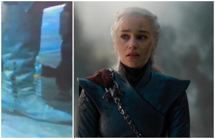 Glöggir aðdáendur Game of Thrones komu auga á vatnsflösku í lokaþættinum.