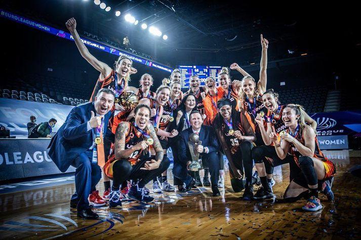 UMMC Ekaterinburg sigraði EuroLeague í körfubolta í ár.