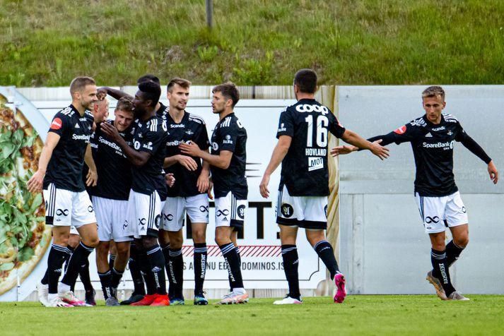 Rosenborg vann 2-0 sigur í Kaplakrika.
