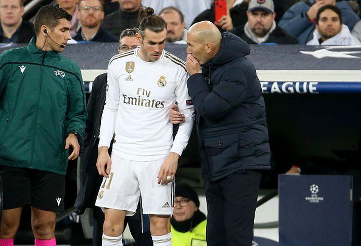 Bale kemur inn á í leiknum gegn PSG í Meistaradeildinni fyrir ekki svo löngu.