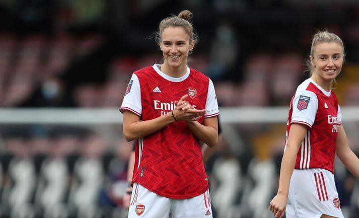 Vivianne Miedema hefur skorað 50 mörk í 50 leikjum fyrir Arsenal.