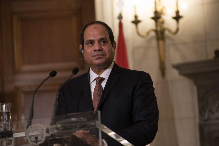 Abdul Fattah al-Sisi, forseti Egyptalands, hefur ítrekað að mikilvægt sé að koma á friði á Sínaískaga.