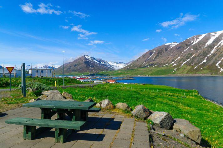 Skjálftinn fannst í Ólafsfirði.