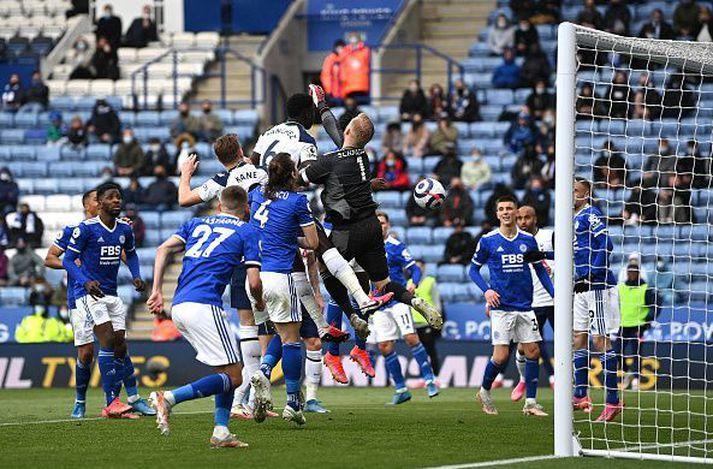 Tottenham sótti þrjú stig til Leicester.