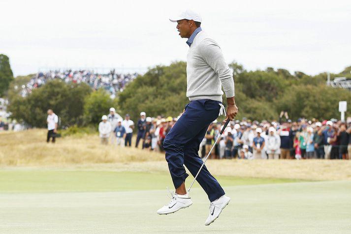 Tiger Woods hefur nóg að gera á Forsetabikarnum.