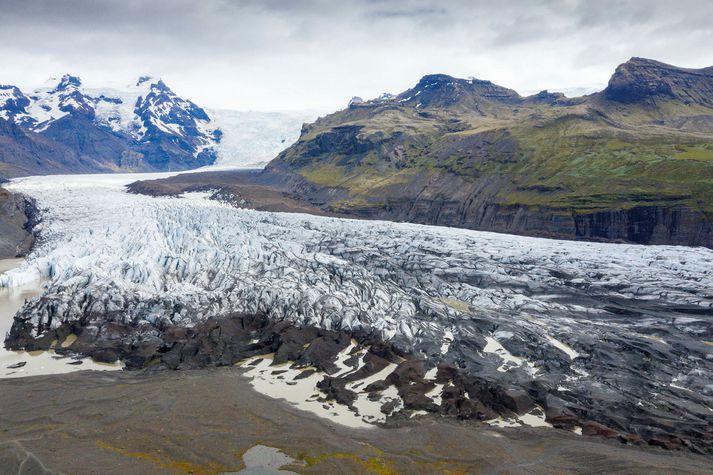 Jöklar á Íslandi hafa hopað hratt síðasta aldarfjórðunginn, þar á meðal Skaftafellsjökull.