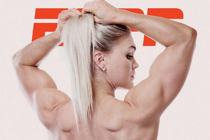 Katrín Tanja Davíðsdóttir á forsíðu Body Issue ESPN 2019.