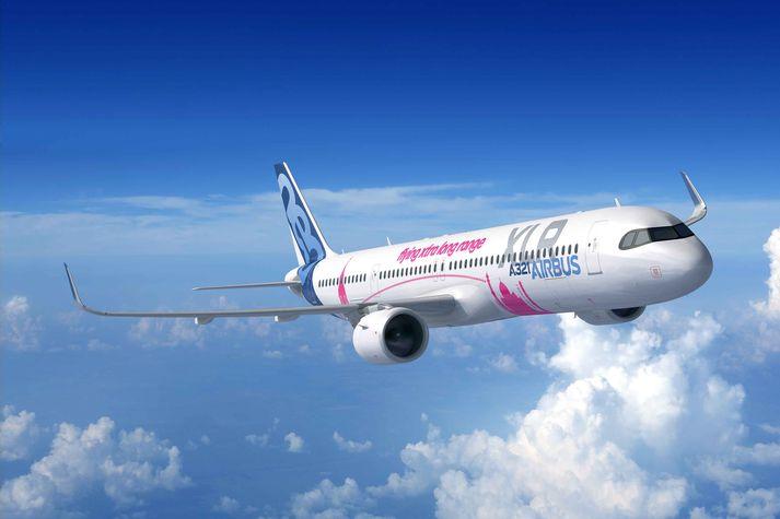 Airbus A321XLR er heiti nýju þotunnar, sem áætlað er að verði komin í þjónustu flugfélaga árið 2023.
