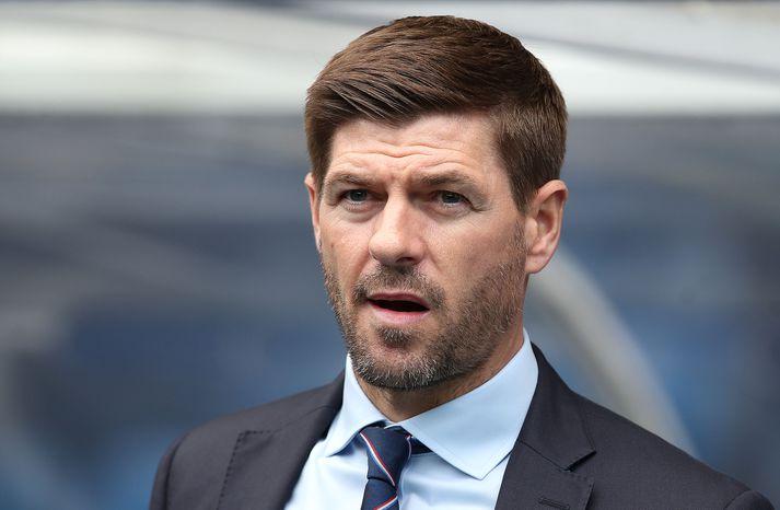 Gerrard og strákarnir hans gætu mætt KR, toppliði Pepsi Max-deildarinnar, í forkeppni Evrópudeildarinnar.