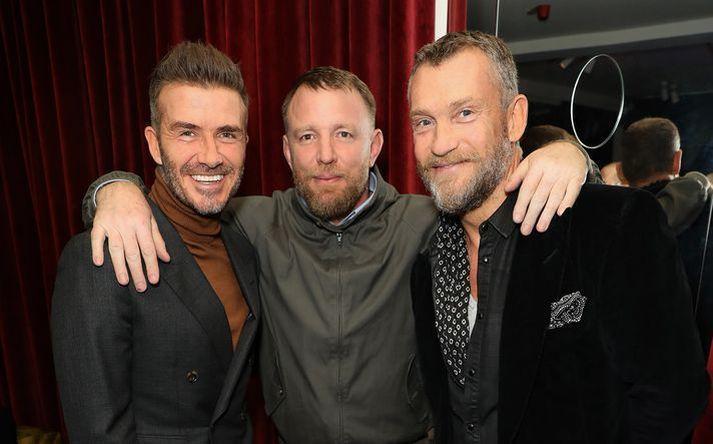 David Beckham, Guy Ritchie og Björgólfur Thor eru fínir félagar. Beckham virðist þó ekki hafa verið með í för að þessu sinni.